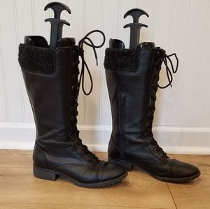 BONGO Lace Up Boots Tall Black size 8